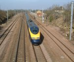 GNER 373/2 Regional Eurostar : Little Bytham : February 2003