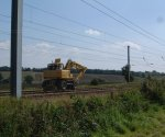 Engineering Work on the East Coast Mainline : Little Bytham : September 2004