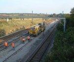 Engineering Work on the East Coast Mainline : Little Bytham : September 2004