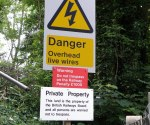 Warning Sign at Bridge ECM1/210 Little Bytham : June 2009
