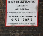 East Coast Mainline Bridge ECM1/210 Little Bytham : June 2009