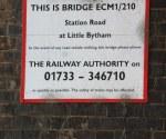 East Coast Mainline Bridge ECM1/210 Little Bytham : June 2009